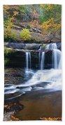 Autumn Waterfall Beach Towel