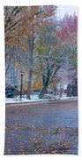 Autumn Winter Street Light Color Beach Towel