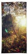 Autumn Woodland Beach Sheet