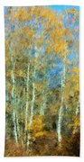 Autumn Woodlot Beach Towel