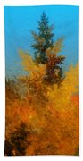 Autumnal Forest Beach Towel