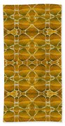 Autumnal In Earth Tones Beach Towel