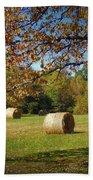 Autumnal Scenery Along Helmstetler Road Beach Towel