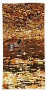 Autumns Mallards Beach Towel