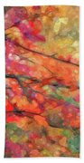 Autumns Splendorous Canvas Beach Towel