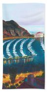 Avalon At Sunrise Beach Towel by Nicolas Nomicos