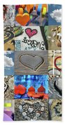 Awesome Hearts - Collage Beach Towel