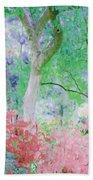 Azalea Flowers And Tree Coral  Beach Towel