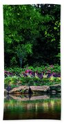 Azalea Pond Beach Towel