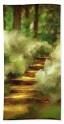 Azalea Stairs Beach Towel