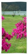 Azaleas At The Azores Beach Towel