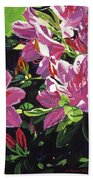 Azaleas With Dew Drop Beach Towel