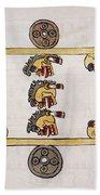 Aztec Ball Game Beach Towel