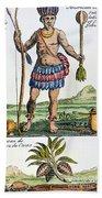 Aztec: Chocolate, 1685 Beach Towel