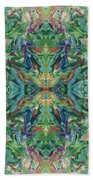 Aztec Kaleidoscope - Pattern 018 - Earth Beach Towel
