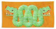 Aztec Serpent Beach Towel