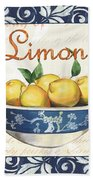 Azure Lemon 3 Beach Towel