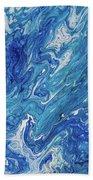 Azure Transfusions Of Ocean Waves Fragment  Beach Towel