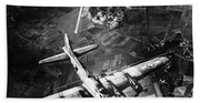 B-17 Bomber Over Germany  Beach Towel
