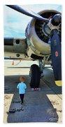 B-17 Engine Aircraft Wwii Beach Towel