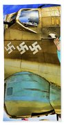 B-17 Paint  Beach Towel