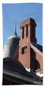 B And O Railroad Station In Oakland Maryland Beach Towel