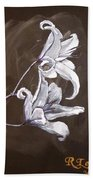 B And W Lily Beach Towel