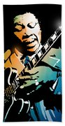 B B King Beach Towel