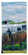 B17 Bomber Side View Beach Towel