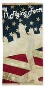B17 Flying Fortress Vintage Beach Towel