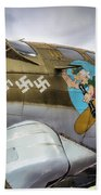 B17 Nine-o-nine Nose Art V2 Beach Towel