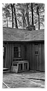 Babcock State Park Cabin - Paint Bw Beach Towel