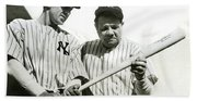 Babe Ruth And Lou Gehrig Beach Sheet
