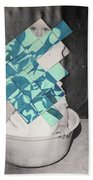 Baby And Squares 2 Beach Towel