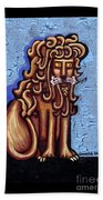 Baby Blue Byzantine Lion Beach Towel