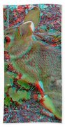 Baby Bunny - Use Red-cyan 3d Glasses Beach Towel