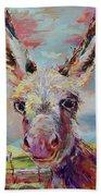 Baby Donkey Painting By Kim Guthrie Art Beach Towel