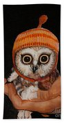 Baby Owl Beach Towel