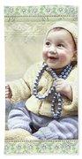 Baby Wears Beads Beach Towel