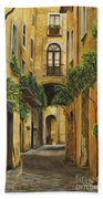 Back Street In Italy Beach Towel by Charlotte Blanchard