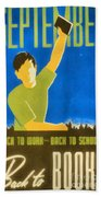 Back To Books Beach Towel