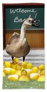 Back To School Little Duckies Beach Towel