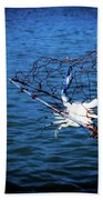 Back To The Bay Blue Crab Beach Towel