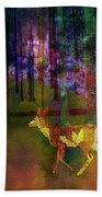 Back To The Forest Beach Towel
