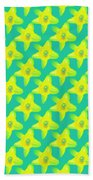 Background Choice Daffodils Beach Towel