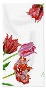 Bouquet Of Tulips Beach Towel
