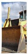 Backhoe Tractor Construction Beach Towel