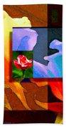 Backlit Roses Beach Sheet