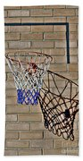 Backyard Basketball Beach Towel