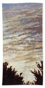 Backyard Sunset Beach Towel